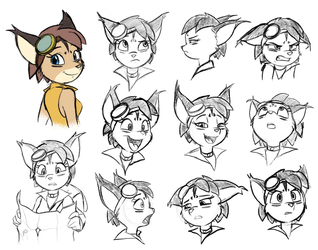 Larxi: Expression Sheet by DeannART