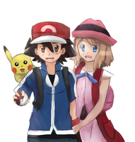 Ash and Serena by Pikarty10