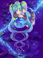 Vocaloid MIKU - Sea space by boonhong99