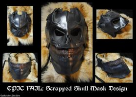 Scrapped Leather Skull Mask Design by Epic-Leather