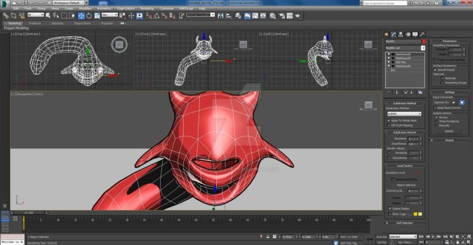 Characters Creation - Red Devil (preview) WIP 01 by NeutralHumanity