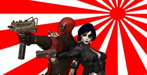 Domino And Deadpool ! by CyberBrian360
