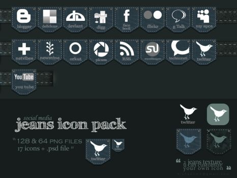 jeans social media icon pack by nishad2m8