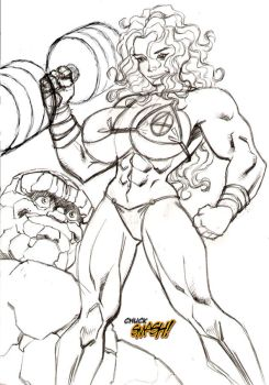 Commissioned She-Hulk Rough by ChuckSmash