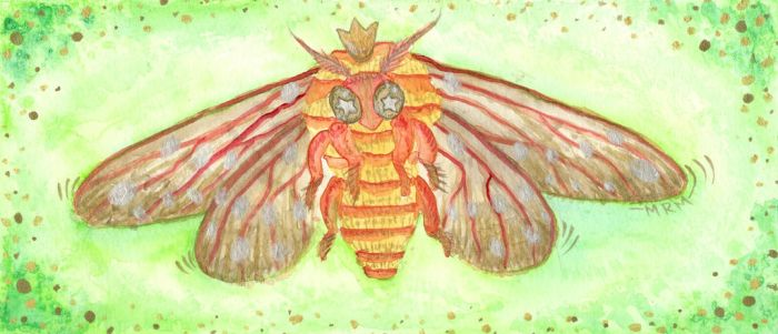 Regal Moth by BeanSproutMomo