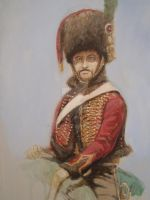 Ben Pook - French Guard Horse Chasseur by pook1983
