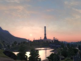 Oblivion-Imperial City at Dawn by thecatsred