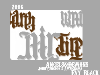 Angels and Demons Ambigrams by evyblack