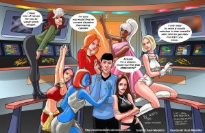 TLIID 230. The X-Women meet Mr Spock by AxelMedellin