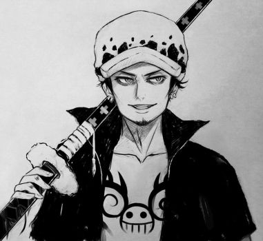 Trafalgar Law sketch by Harumagai