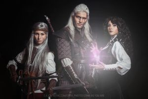 The Witcher - Ciri, Geralt and Yennefer by GreatQueenLina