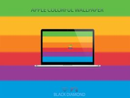 Apple Colorful Wallpaper by BlackDiamondOne