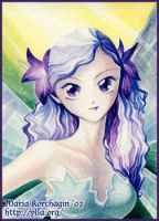 ACEO 3 : Violet by maria-jaujou