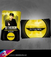 DJ THERION Business Card by AnotherBcreation