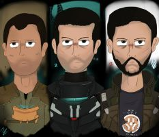 (dead space) Isaac clarke evolution by Art-Pz