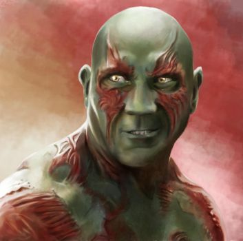 Drax the Destroyer Digital Painting by JZINGERMAN