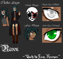REFERENCE SHEET: Ravon's Official Design by InvaderIka