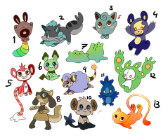 Pokemon adopts - 4/13 OPEN by Amanska