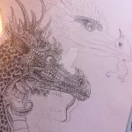 wip for a dragon drawing in name of my inspiration by Kaveebi