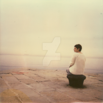 The Waiting - Polaroid by tgphotographer
