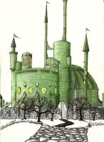 Emerald Stronghold 1 by Psychicbard