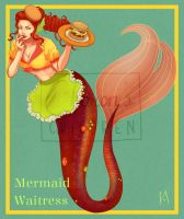 [CLOSED] Mermaid Waitress | PAYPAL AUCTION by CharonsChildren