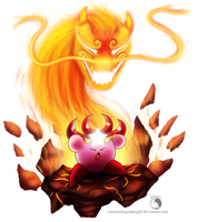 30 Day Kirby Challenge - 20 - Monster Flame by Celestia-Knight