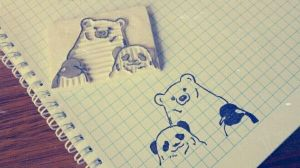 Shirokuma Cafe - Rubber stamp by dunkleLamm