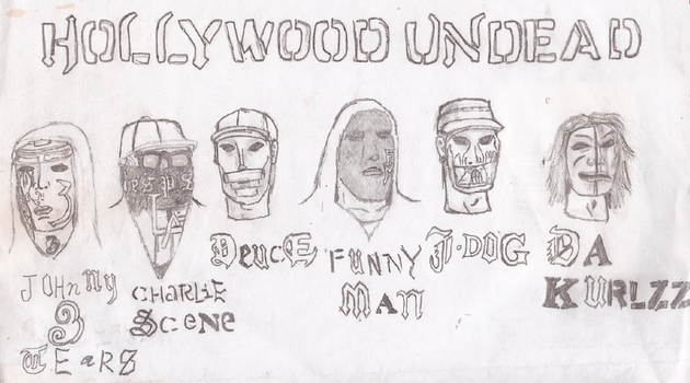 Hollywood Undead Swan Songs Masks by UnicronHound