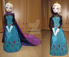 Frozen Queen Elsa coronation dress by kara023