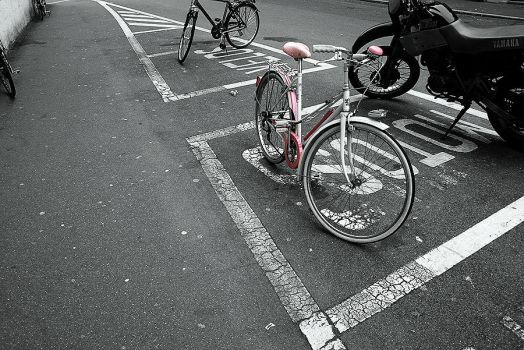 Pink Bicycle by paintyouprettyingold