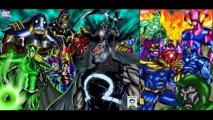 Villains -DC and Marvel by ssejllenrad2