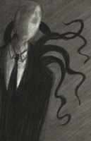 SlenderMan charcoal doodle by Cageyshick05