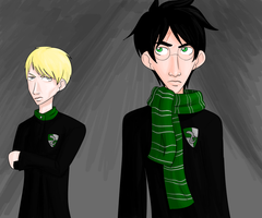 Draco and Slytherin Harry by CharlotteVixen
