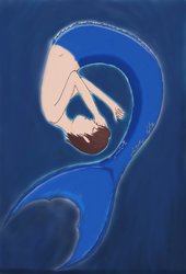 Merman Coloured by MermaidMichelle