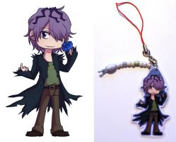 Garry - chibi charm commission by PapaVego