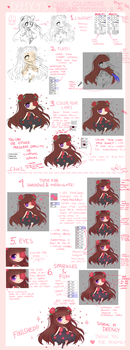 PTSAI Chibi Coloring Tutorial And Tips by deency