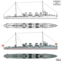 Improved Tatra class Destroyer Design by Tzoli