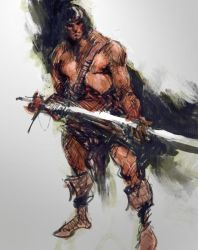 quick sketch / conan by Joel-Lagerwall