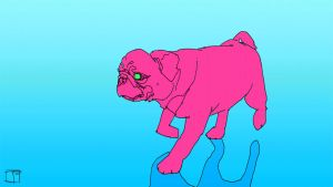 Pug walk cycle by SuperPhazed