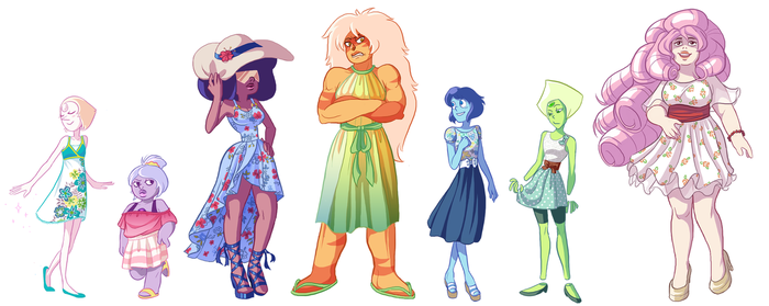 Crystal Gems - Spring Dress Collection by MidoriEyes