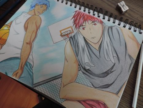 Kagami / Aomine Drawing color by tak17hiro