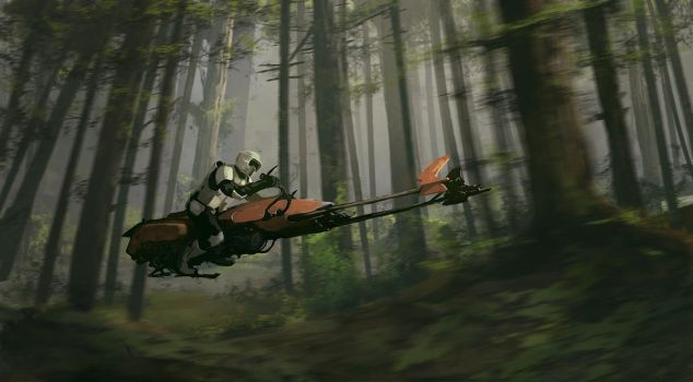 Endor scouts by QuintusCassius