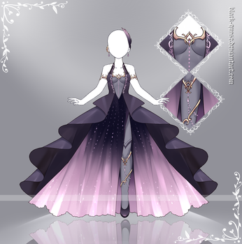 [closed] Queen of Hell Outfit Adopt | Auction by Black-Quose