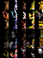the Complete FNAF collection by blizzardblast101