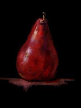 classic painting of pear by tazjohn