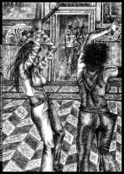Midda vs Carsa, another time: unpublished art B.IV by middaschronicles