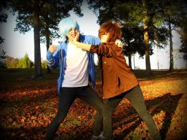 Mordecai and Rigby by LazyAiCosplay