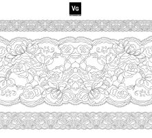 Lace Pattern Brush by vectorgeek