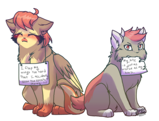 PF- Yin and Roxi Shaming by DevilsRealm